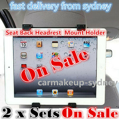 2x set New iPad 2 3 4 5  Air Samsung Seat Headrest Tablet Stand Car Mount Holder
