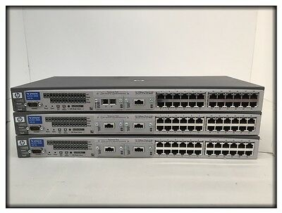 3x HP ProCurve 2524 24-Port 10/100 Switch PN: J4813A
