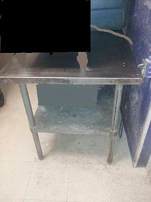 5' x 3' Stainless Steel Work Table with Lower Galvanized Shelf