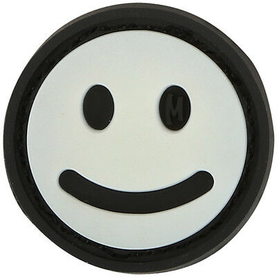 Maxpedition Mini Happy Face Rubber Morale Patch Little Funny Badge Glow