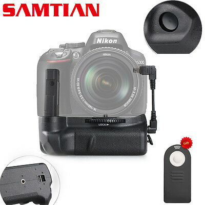 Free Shipping New  Battery Grip for Nikon D5100 D5200 D5300 + IR Remote ML-L3