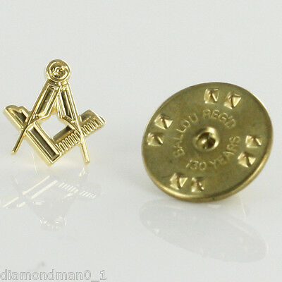 Gilt Metal Square & Compass Masonic Lapel or Tie Pin (or Badge)