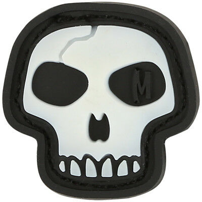 Maxpedition Mini Skull 3D Rubber Airsoft Morale Patch Scary Badge Glowing
