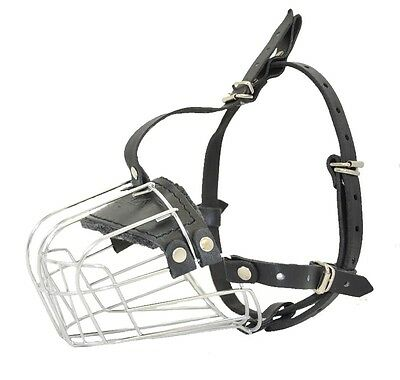 Viper Delta Wire Metal Basket Dog Muzzle Comfortable Padded Well Ventilated For