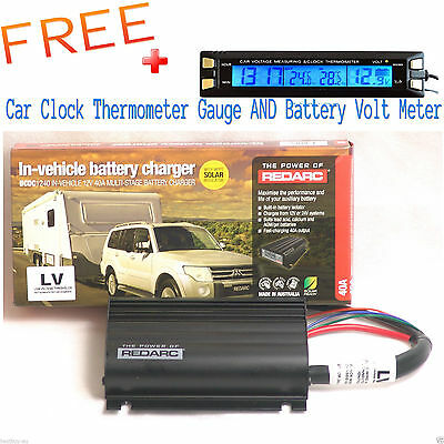 Redarc Bcdc1240Lv Dual Battery Isolator System Dc To Dc Mppt Solar 4X4 4Wd Agm