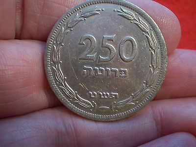 Large Israeli, Minted 1949, Nice Large Denomination Coin Early Issue :)