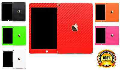 3D Textured Carbon Fibre Wrap Skin Decal Sticker Vinyl For IPAD 4