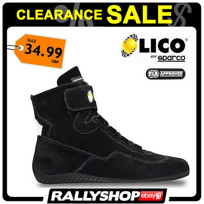 FIA Lico By Sparco Suede UK size 39 Black Shoes High Fire shoes