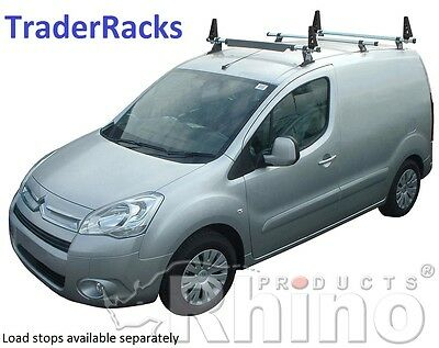 Citroen Berlingo Roof Rack Bars 2008 - 2018 3 Bar Rhino Van Ladder Racks