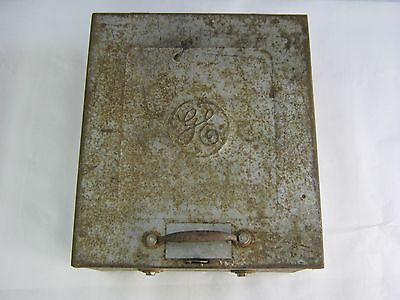 1920's Heavy Metal General Electric GE Circuit Magnetic Switch Box Steampunk