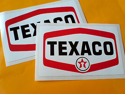 TEXACO Petroleum Car Motorcycle Stickers Decals 2 off 125mm
