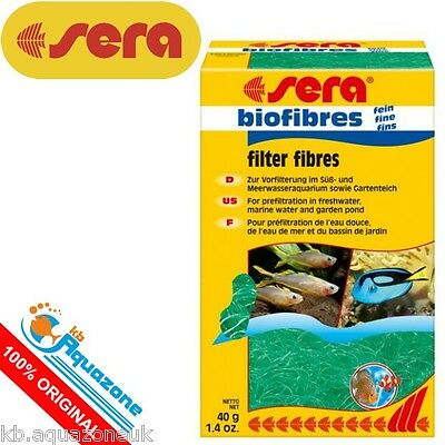 SERA * Biofibres fine 40g * Filter Fibres prefiltration of coarse dirt particles