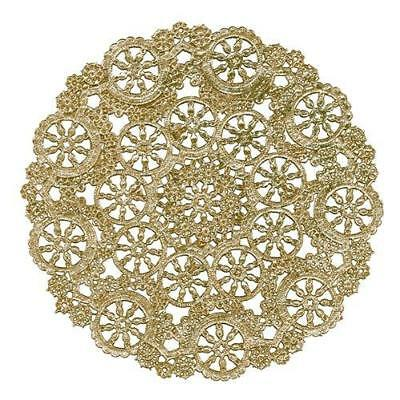 Royal Lace Round Foil Doilies, Gold, 10-Inch, Pack of 8 (B26511) New
