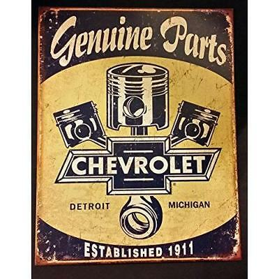 Chevrolet - Chevy Genuine Parts Pistons Tin Sign 13 x 16in New