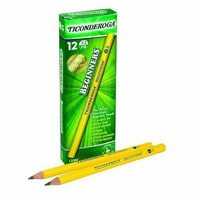 Dixon Ticonderoga Beginners Primary Size #2 Pencils without Erasers, Box of New