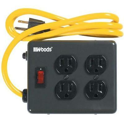 Yellow Jacket 2177N 4-Outlet Metal Power Block Adapter with Lighted Switch, New
