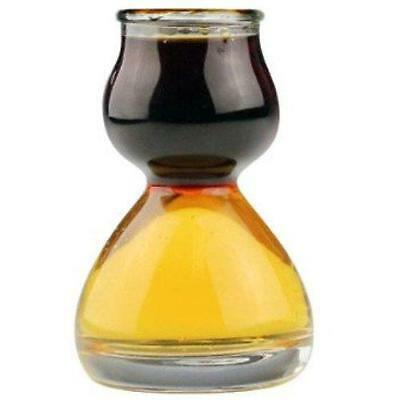 Quaffer Double Bubble Layered Shot Glass plus Recipe Card, Set of 4 New