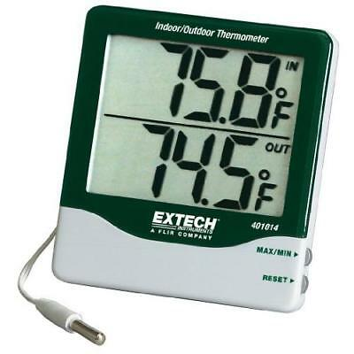 Extech 401014 Big Digit Indoor/Outdoor Thermometer New