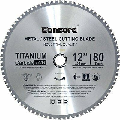 Concord Blades MCB1200T080HP 12-Inch 80 Teeth TCT Ferrous Metal Cutting Blade