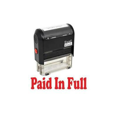 PAID IN FULL Self Inking Rubber Stamp - Red Ink New