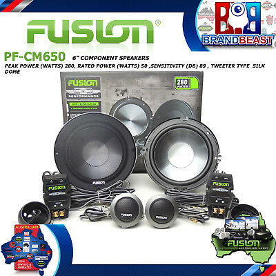 "Fusion Performance Pf-cm650 6"" 280w 2 Way Car Audio Split Speaker Component Syst"