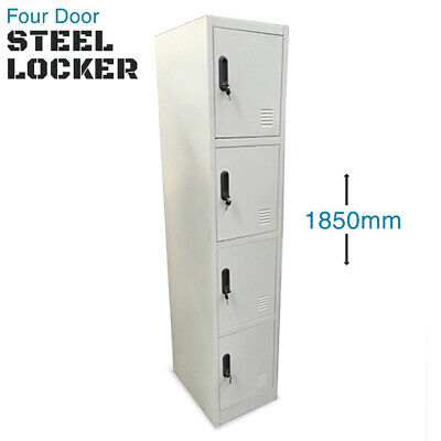 Steel Locker FOUR Door Metal Cabinet Lockers Storage 1850mm