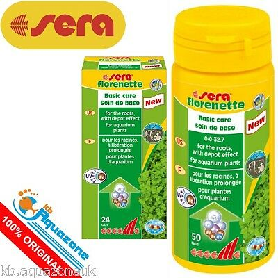 SERA * Florenette tabs 24 or 50 tabs. PLANT CARE AQUARIUM * NEW * FREE DELIVERY