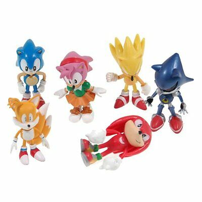 Sonic the Hedgehog Action Figure (6pcs-Set) [Toy] New