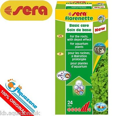 SERA * Florenette tabs 24 tabs. PLANT CARE AQUARIUM * NEW * FREE DELIVERY