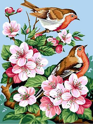 SEG de Paris Tapestry/Needlepoint Canvas – Flowers & Birds (Fleurs de Cerisers)
