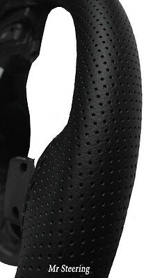 New Real Black Perforated Leather Steering Wheel Cover For Toyota Prius 3 09-15