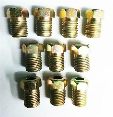 10 x Fully Threaded Male Brake Union Nuts Metric Steel Tubing 10 x 1.0mm Joiner