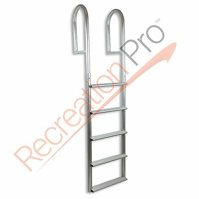 """Adl-A5W 5 Step Stationary Straight Dock Boat Ladder 20"""" Wide 500 Lb Capacity"""