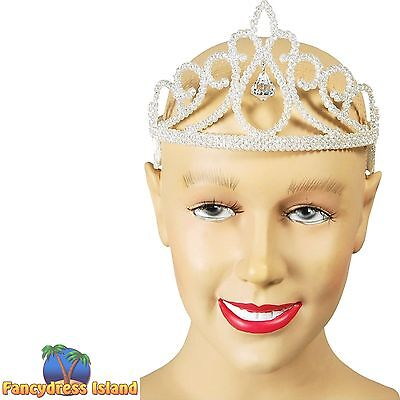 FAIRYTALE GLITTER DIAMOND TIARA - womens ladies fancy dress accessory
