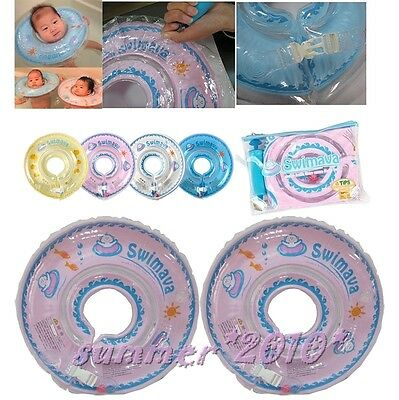 Baby Swimava Set Inflatable Swimming Assist Neck Float Ring Safety Tube 4 Colors
