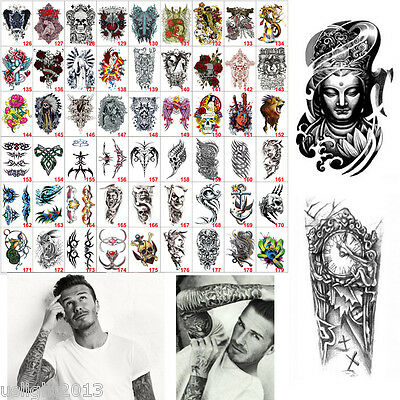 BigStyle Large Temporary Tattoo Arm Body Art Removable Waterproof Tattoo Sticker