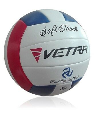 Vetra Volleyball Soft Touch Ball Official White/green/blue Outdoor Indoor Game