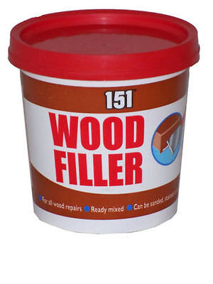 NEW WOOD FILLER ALL WOOD REPAIRS READY MIXED CAN BE SANDED,STAINED, PAINTED 600g