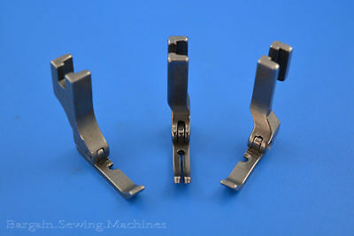 CORDING ZIPPER FOOT LEFT + RIGHT & NARROW JUKI BROTHER SINGER SEWING MACHINES 3p