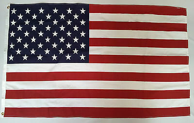 U.S. AMERICAN FLAG - 2.5' x 4.5' ft with BRASS GROMMETS  ***MADE IN USA***