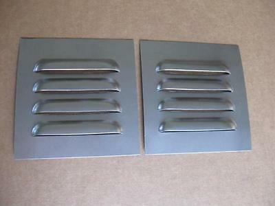 "5"" Pair Straight Louvered Panels ,4 louvers ea Cooling Weld-in by RodLouvers"