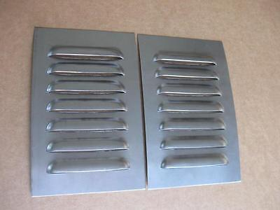 "5"" Pair Straight Louvered Panels ,7 louvers ea Cooling Weld-in by RodLouvers"
