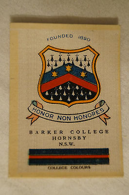 Vintage-1915-Wills Silk-School Crests- Barker College - Hornsby - N.S.W.
