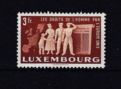 Luxembourg  1951   Sg 547   United  Europe 3 Fr Brown Yellow  M / H