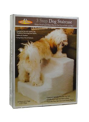 Pet Stairs 3 Steps Stairs Small Dog Cat Steps Pet Ramp Ladder Portable Travel...