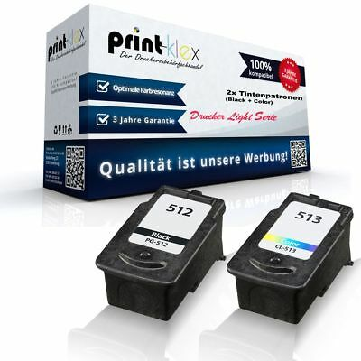 2x Ink Tintenpatronen für Canon Pixma-MP-270 Black + Color - Drucker Light Serie