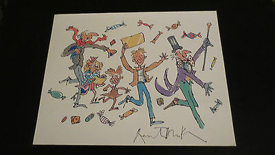 Quentin Blake Illustrator signed autographed photo Charlie & Chocolate Factory