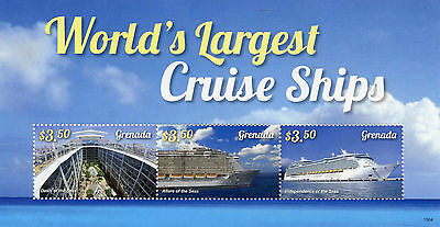 Grenada 2015 MNH Worlds Largest Cruise Ships 3v M/S Boats Oasis Allure Seas