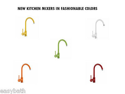 Kitchen Mixer Tap, Modern Colorful Taps, Standing Single Lever
