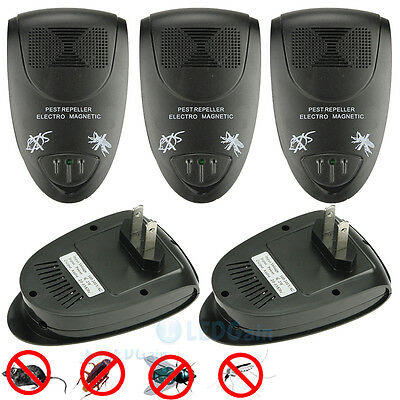 5-Pack Ultrasonic Electronic Anti Mosquito Mice Insect Pest Bug Control Repeller